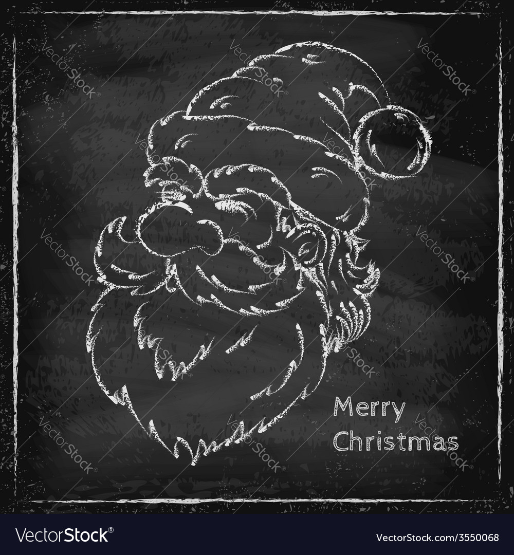 Santa chalk vector | Price: 1 Credit (USD $1)