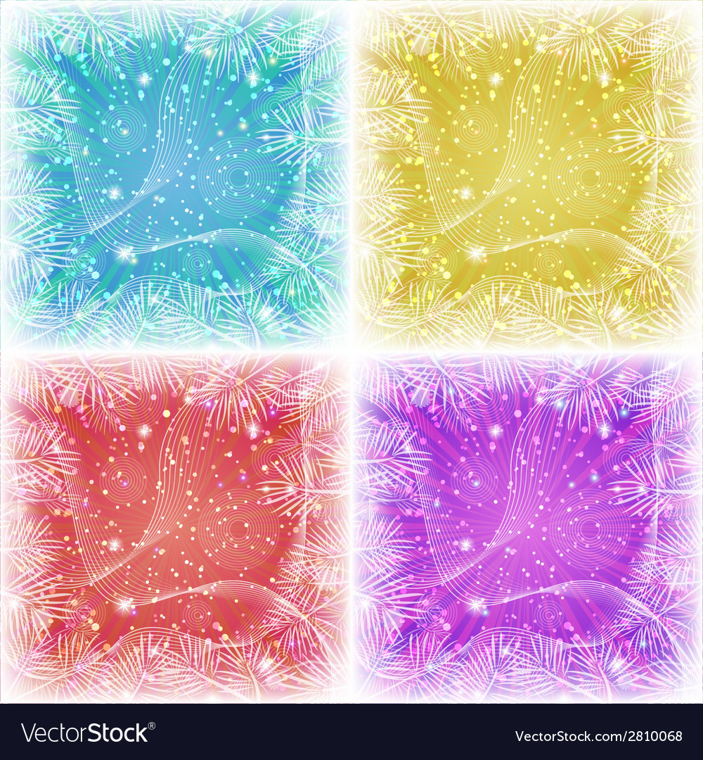 Set of christmas backgrounds vector | Price: 1 Credit (USD $1)