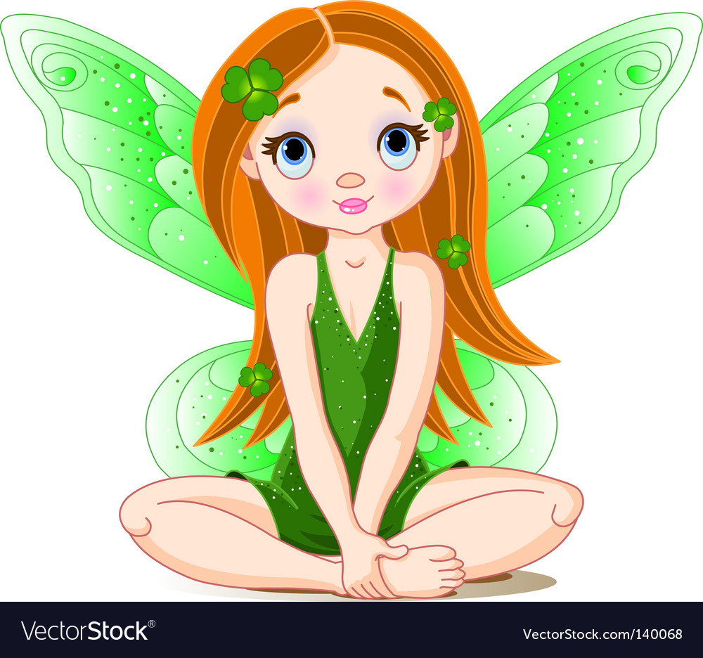 St patrick's day fairy vector | Price: 3 Credit (USD $3)