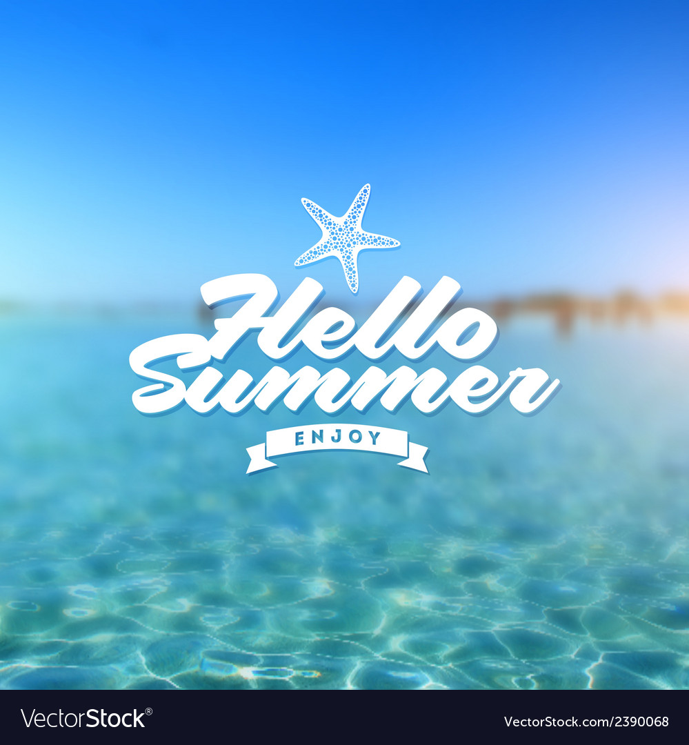 Summer holiday - type design vector | Price: 1 Credit (USD $1)
