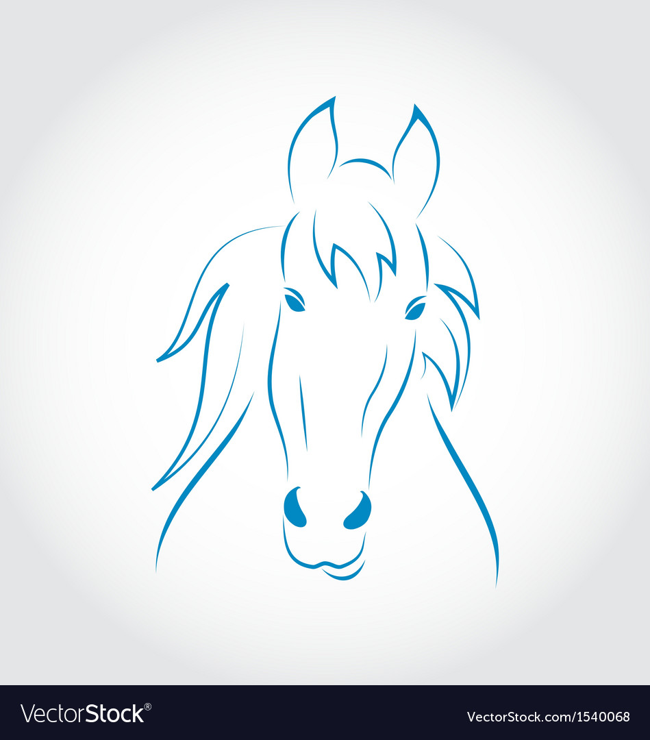 Symbol outline head horse vector | Price: 1 Credit (USD $1)