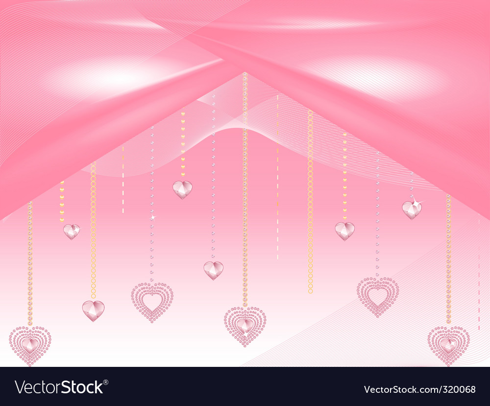 Valentine heart diamonds vector | Price: 1 Credit (USD $1)