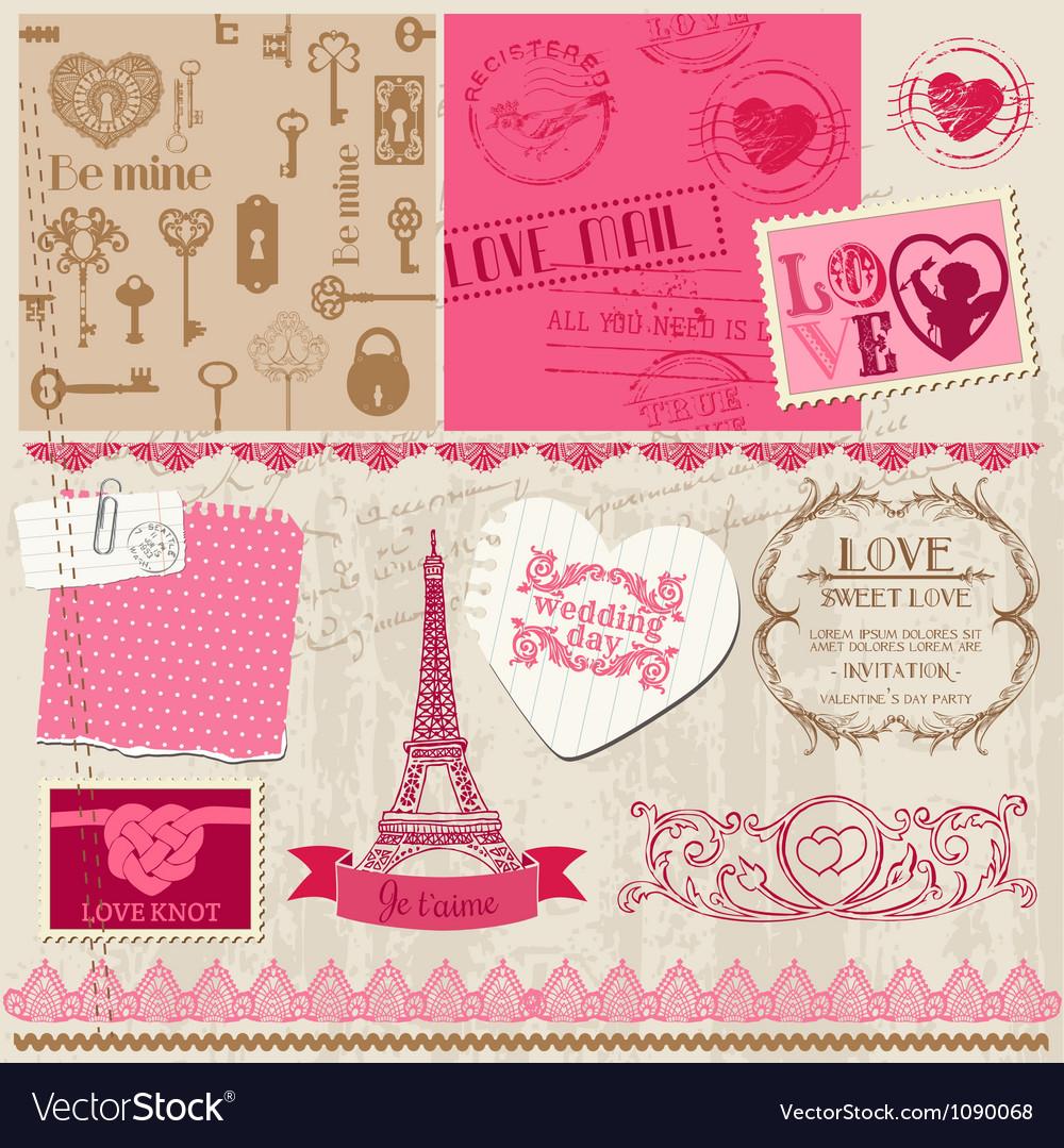 Wedding set of design elements vector   Price: 3 Credit (USD $3)