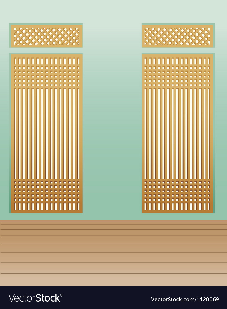 Bamboo interior background vector | Price: 1 Credit (USD $1)