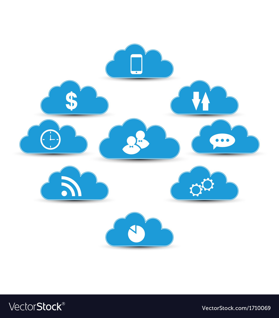 Cloud computing and technology infographic design vector | Price: 1 Credit (USD $1)