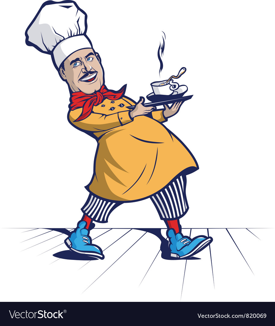 Cook chef smile vector | Price: 3 Credit (USD $3)