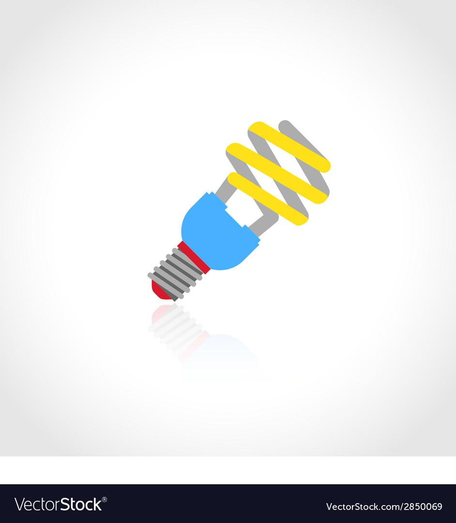 Energy saving lightbulb icon vector   Price: 1 Credit (USD $1)
