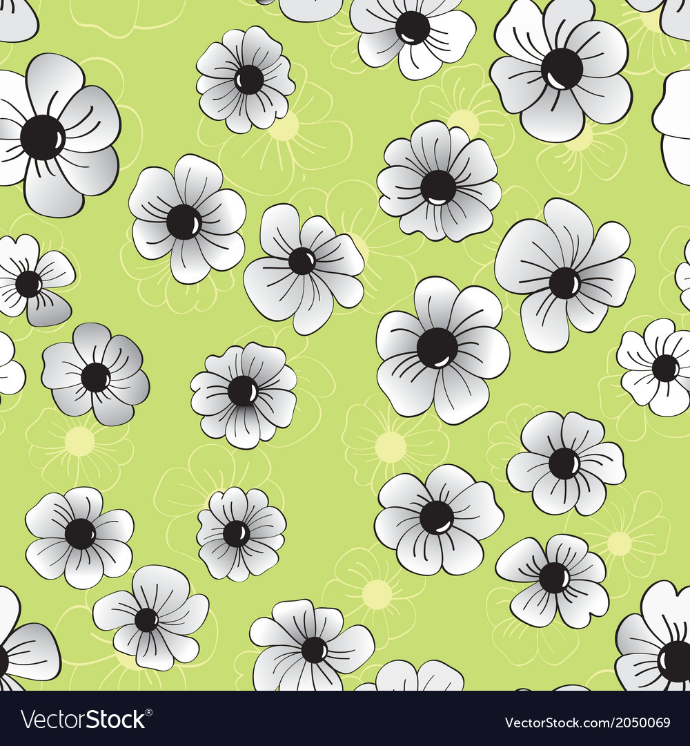 Flower seamless pattern floral background vector | Price: 1 Credit (USD $1)