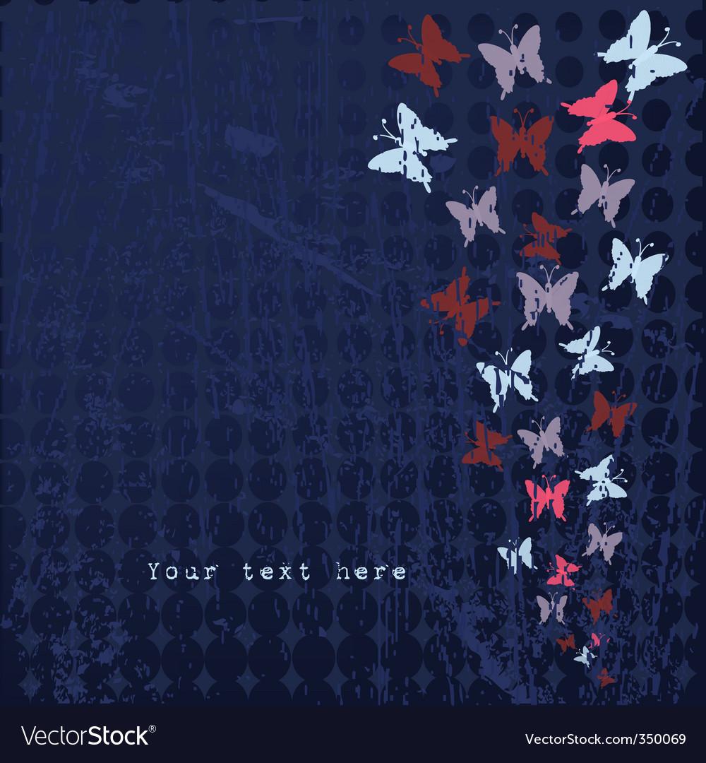 Grunge butterflies vector | Price: 1 Credit (USD $1)