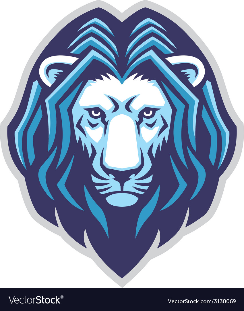 Lion head mascot vector | Price: 1 Credit (USD $1)