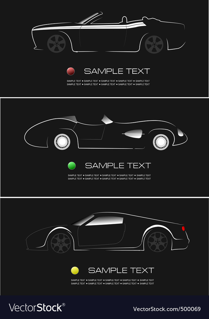 Modern cars vector | Price: 1 Credit (USD $1)