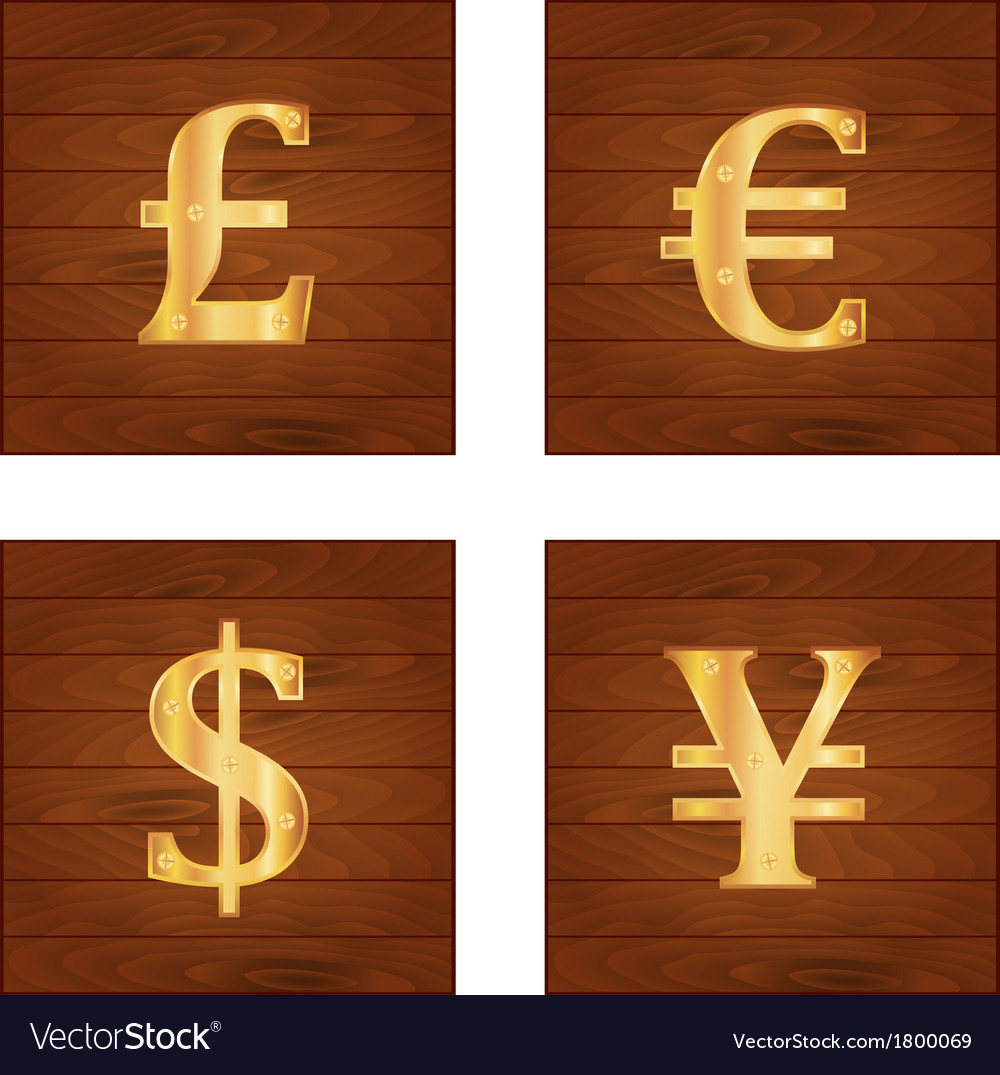 Money signs vector | Price: 1 Credit (USD $1)