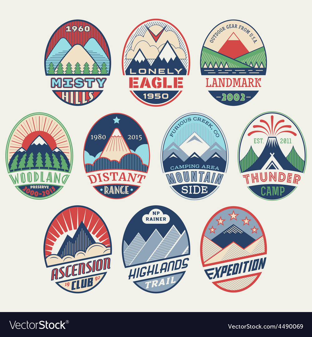 Mountain badge set2color vector   Price: 1 Credit (USD $1)
