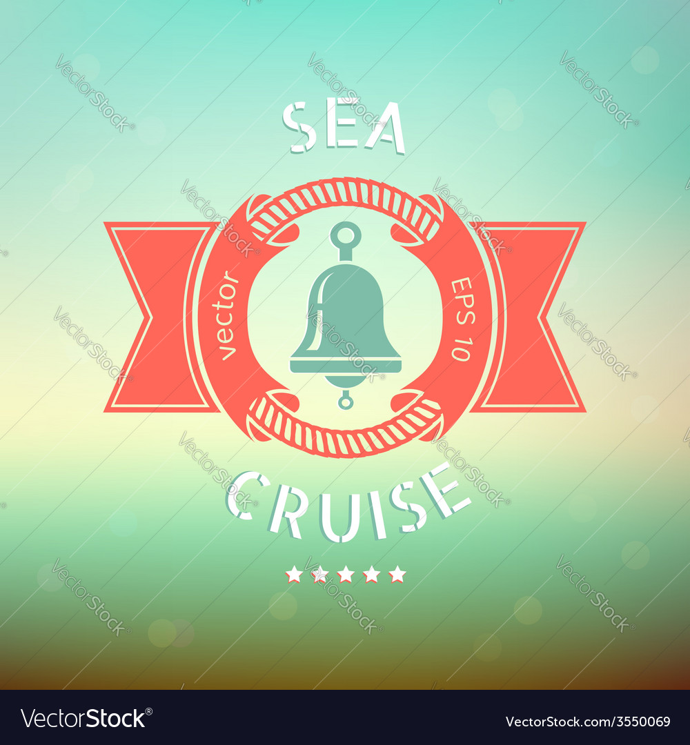 Sea cruise bell vector | Price: 1 Credit (USD $1)