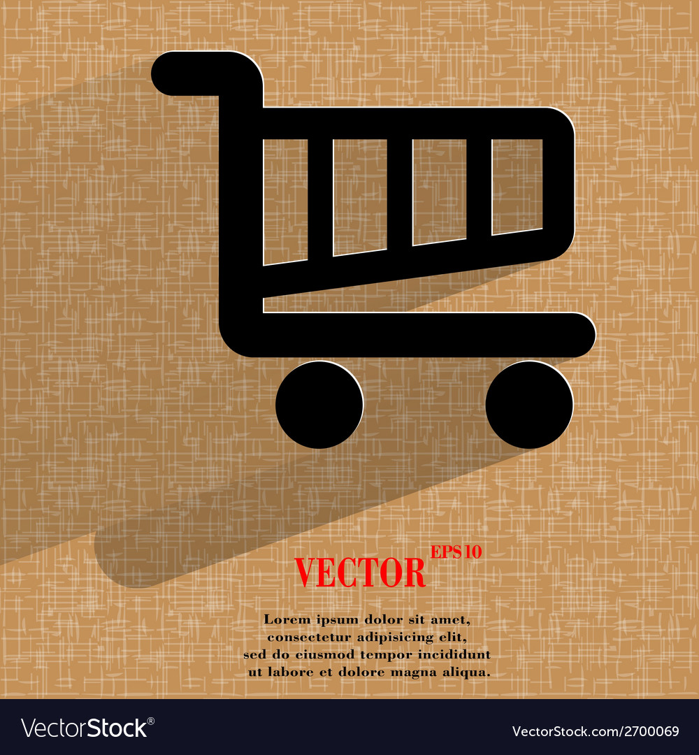 Shopping basket flat modern web design on a flat vector   Price: 1 Credit (USD $1)