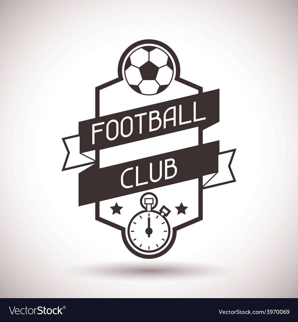 Sports label with football symbols vector | Price: 1 Credit (USD $1)