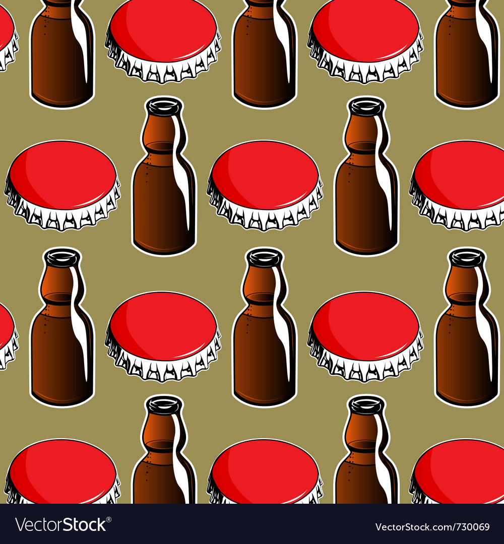 Steel red cover and glass bottle background vector | Price: 1 Credit (USD $1)