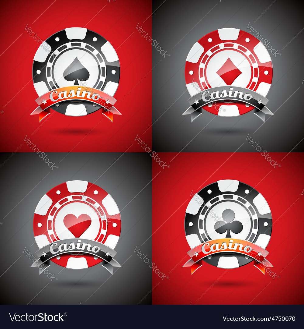 Casino with playing chips set vector | Price: 3 Credit (USD $3)