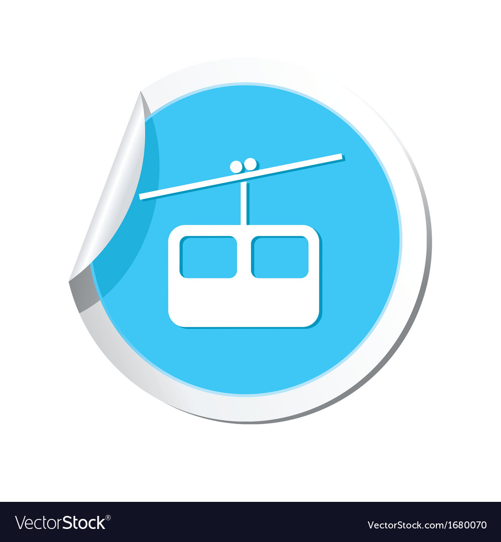 Chair lift icon round blue vector | Price: 1 Credit (USD $1)