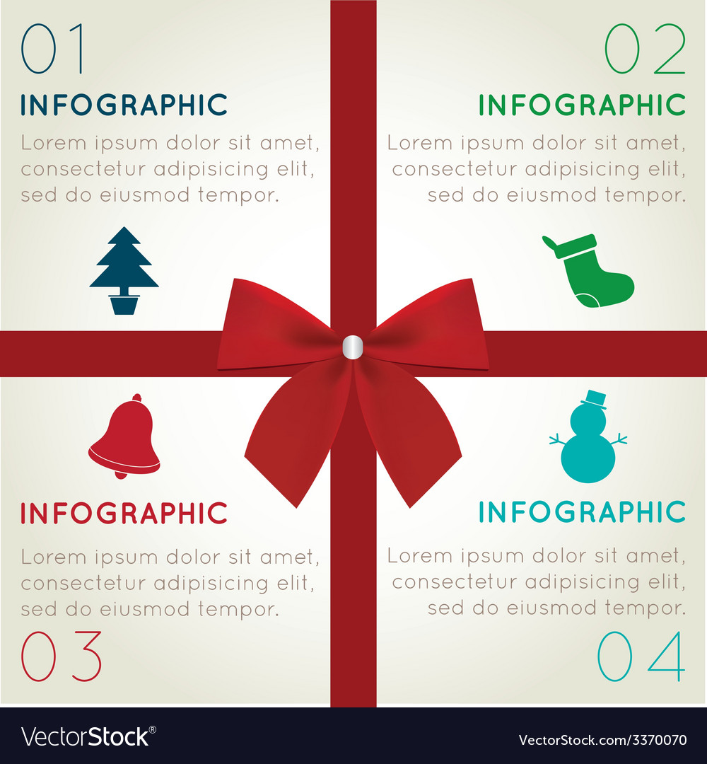 Christmas infographics vector | Price: 1 Credit (USD $1)