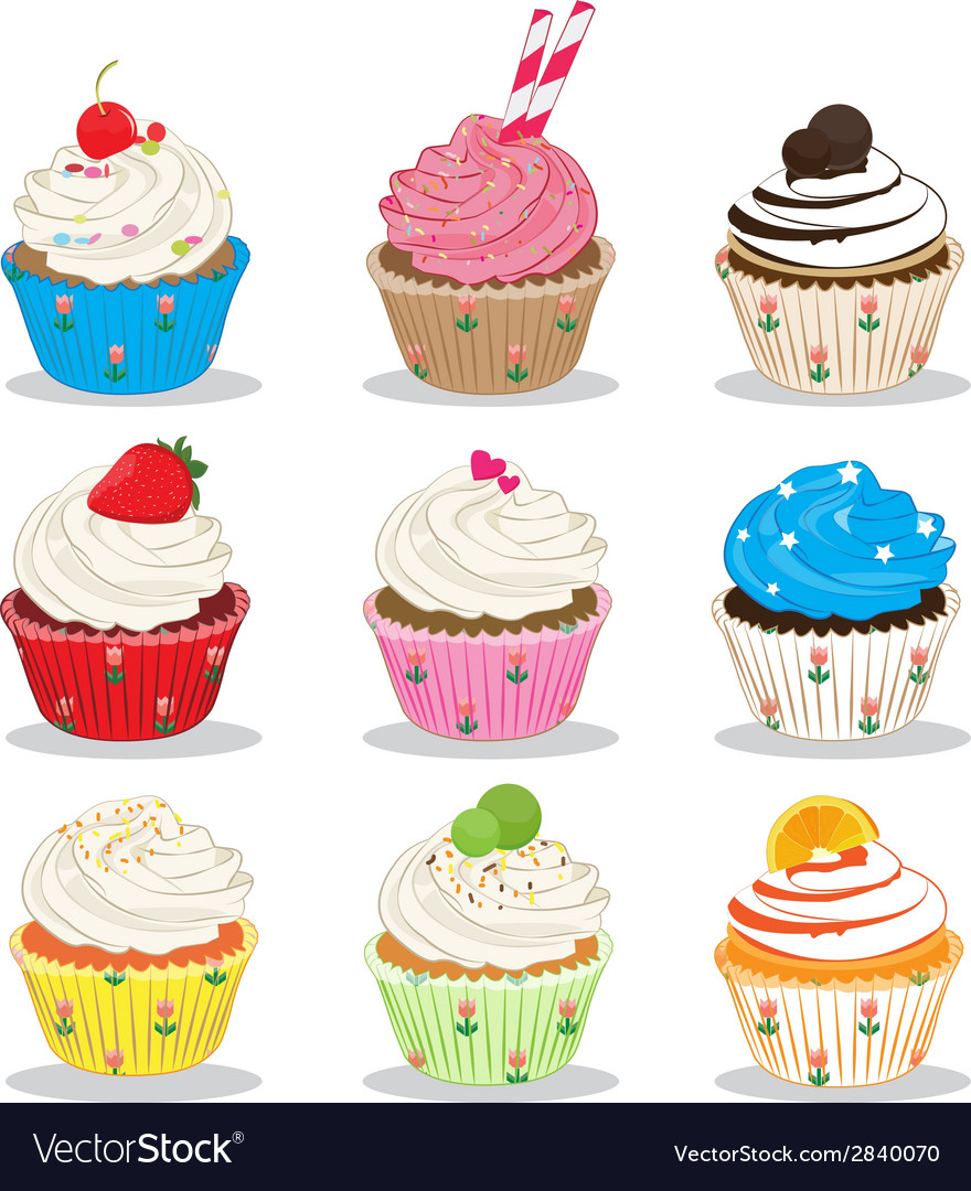 Cute cupcake vector | Price: 1 Credit (USD $1)