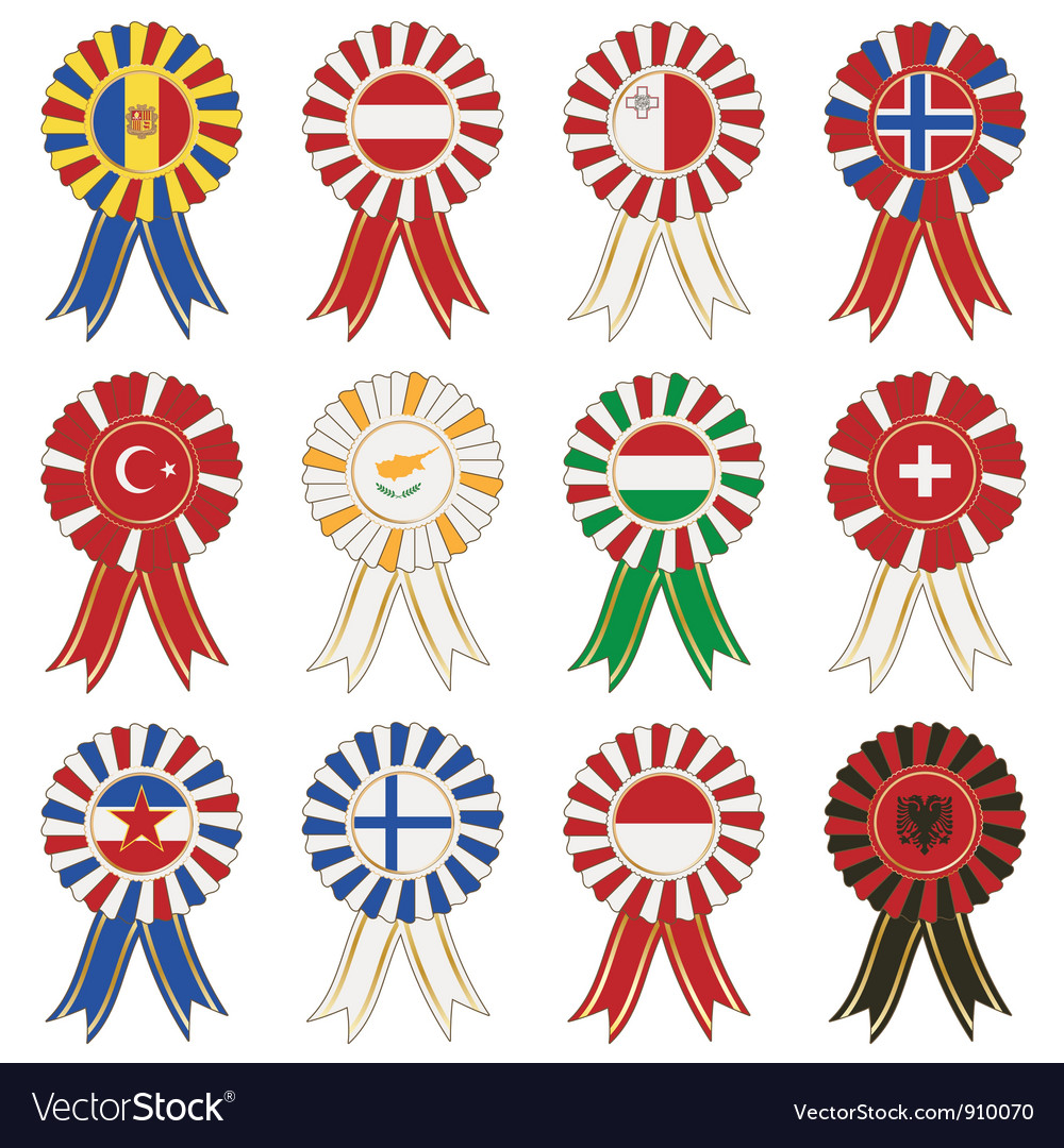 European rosettes vector | Price: 1 Credit (USD $1)