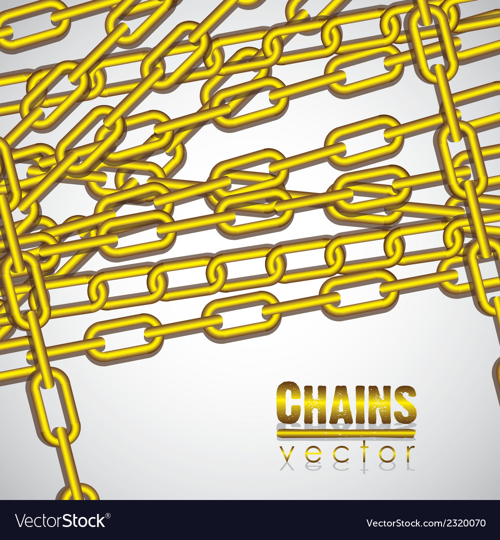 Gold chains superimposed on a white background vector   Price: 1 Credit (USD $1)