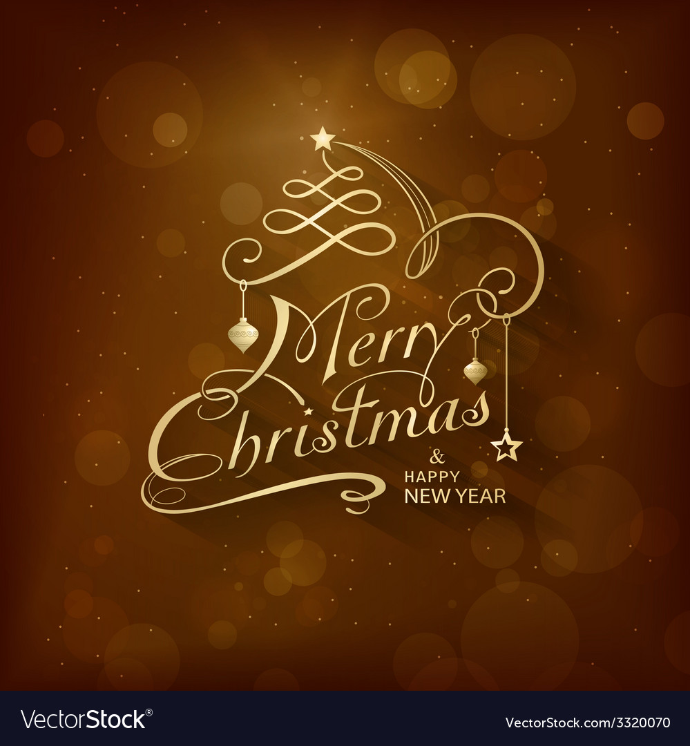 Golden merry christmas card vector | Price: 3 Credit (USD $3)