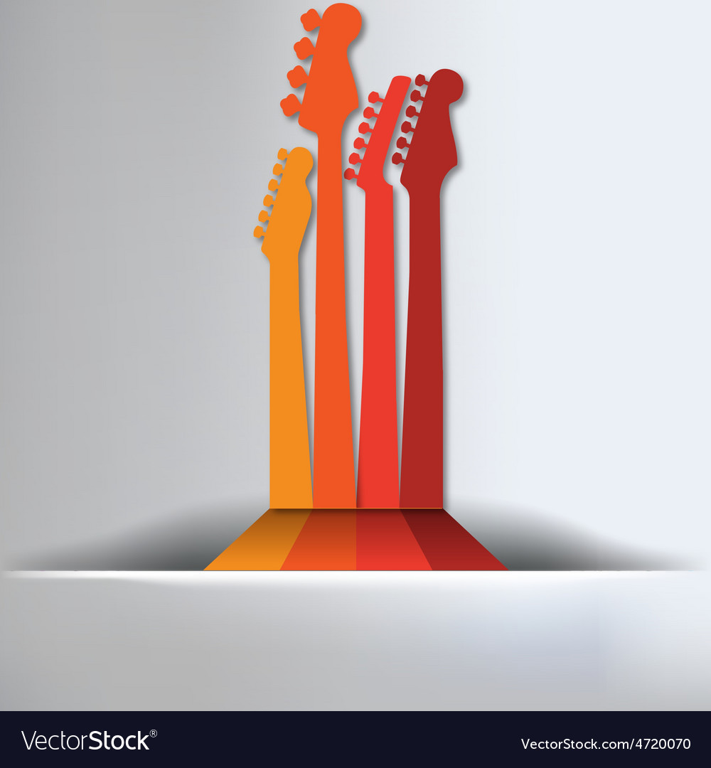 Guitar abstract background vector | Price: 1 Credit (USD $1)