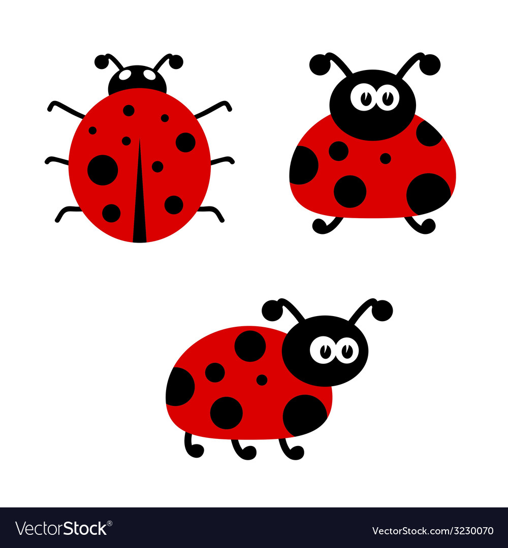 Ladybug cartoon vector | Price: 1 Credit (USD $1)