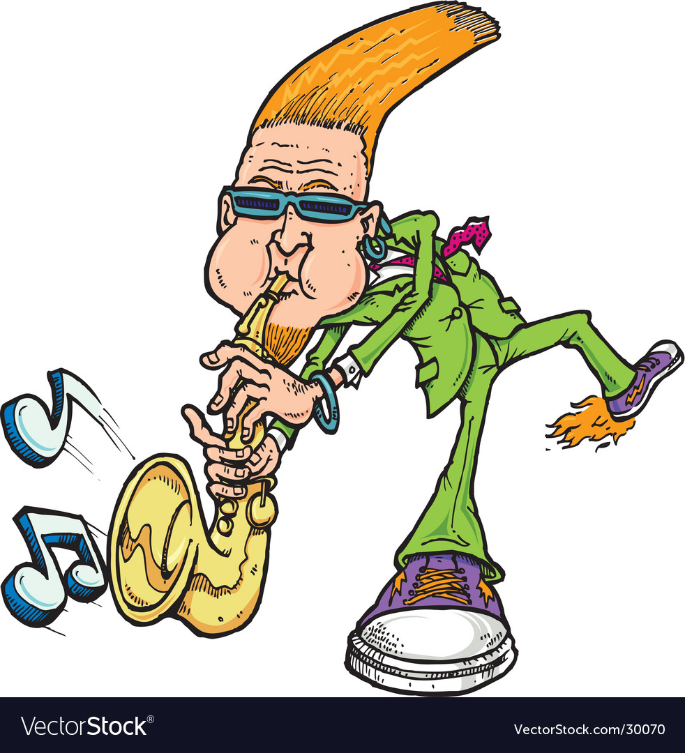 Saxophone man vector | Price: 3 Credit (USD $3)