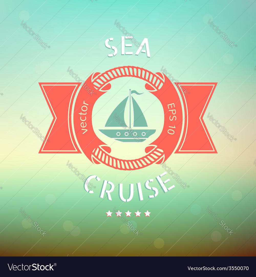 Sea cruise boat vector | Price: 1 Credit (USD $1)