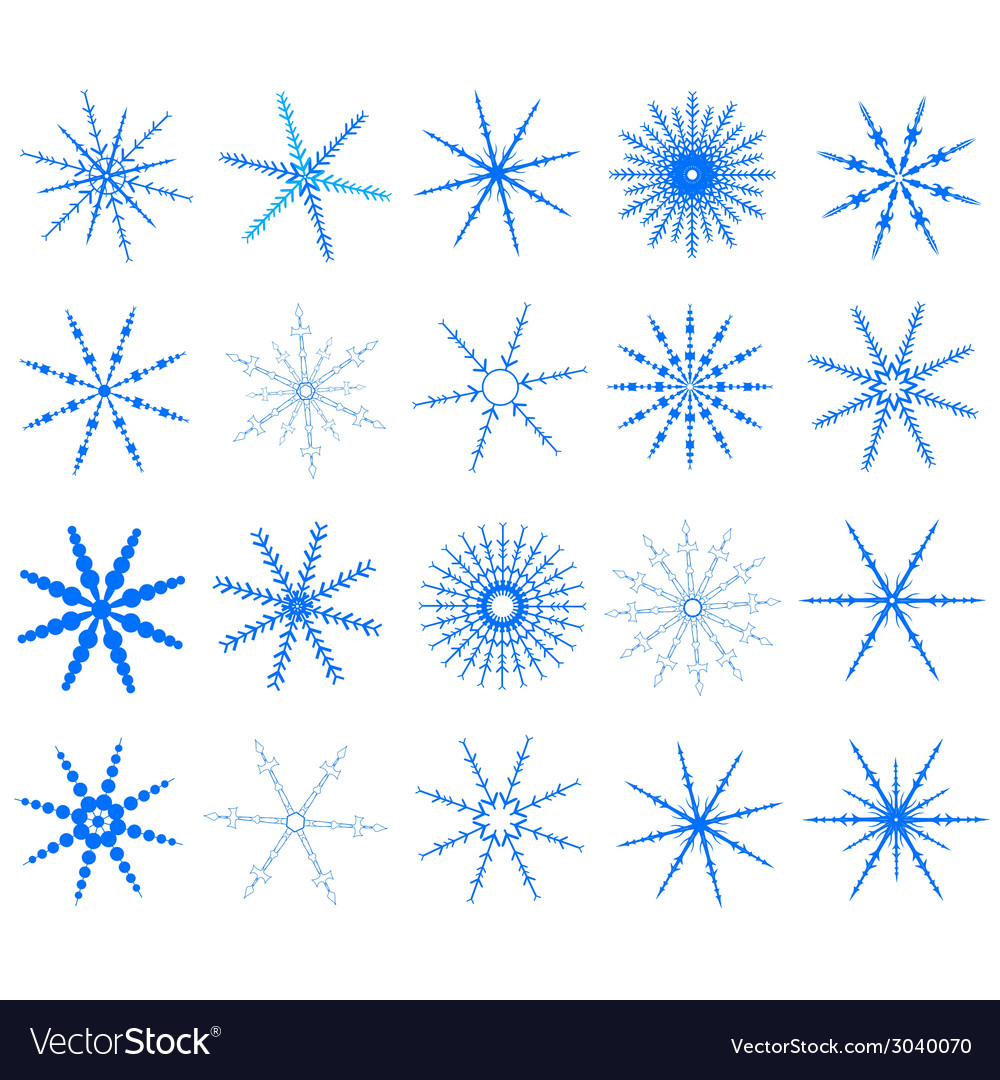 Snowflake in blue on white background vector | Price: 1 Credit (USD $1)