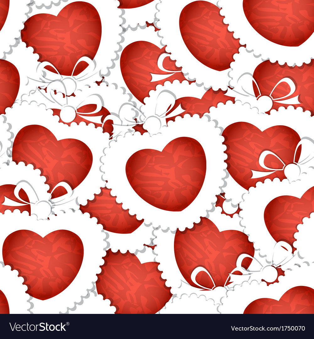 Valentines hearts seamless background vector | Price: 1 Credit (USD $1)
