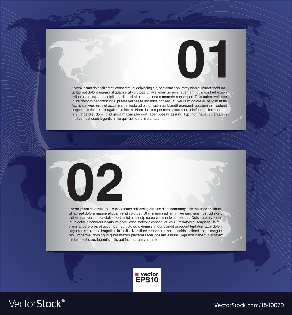 World map banner eps10 vector | Price: 1 Credit (USD $1)