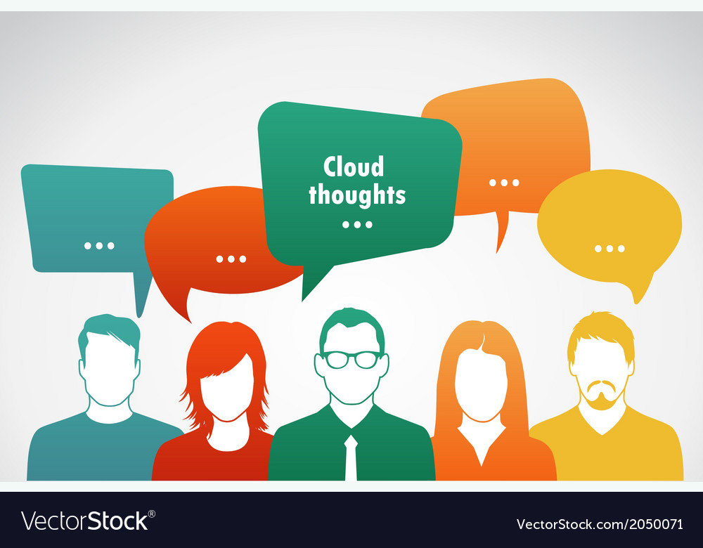 Clouds thoughts vector | Price: 1 Credit (USD $1)