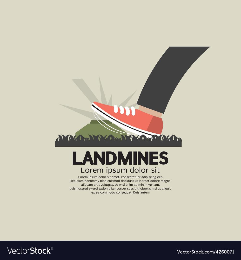 Foot step on landmines vector | Price: 1 Credit (USD $1)