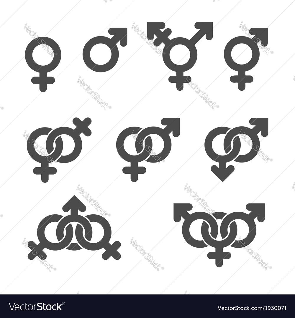 Gender symbol icons vector | Price: 1 Credit (USD $1)