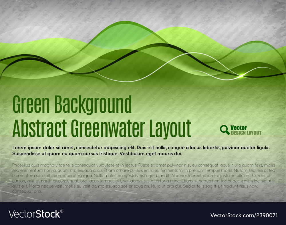 Green water background vector | Price: 1 Credit (USD $1)