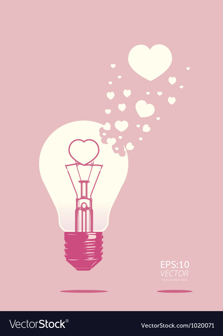 Light bulb of love concept vector | Price: 1 Credit (USD $1)