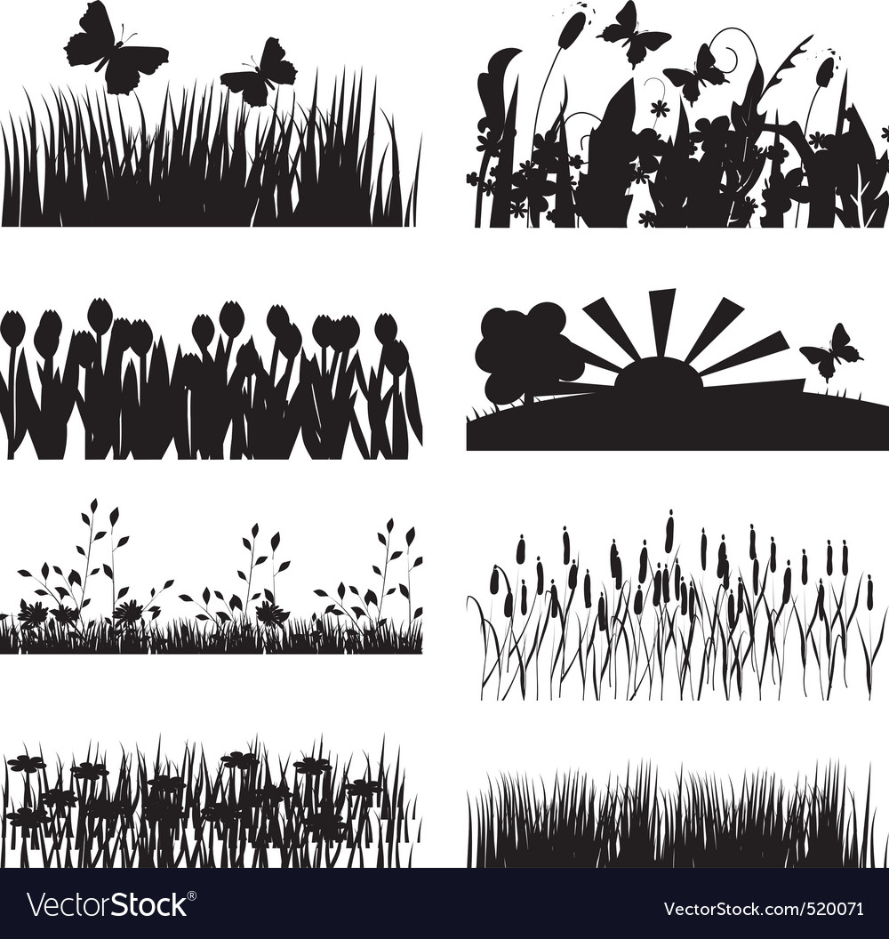 Nature outlines vector | Price: 1 Credit (USD $1)