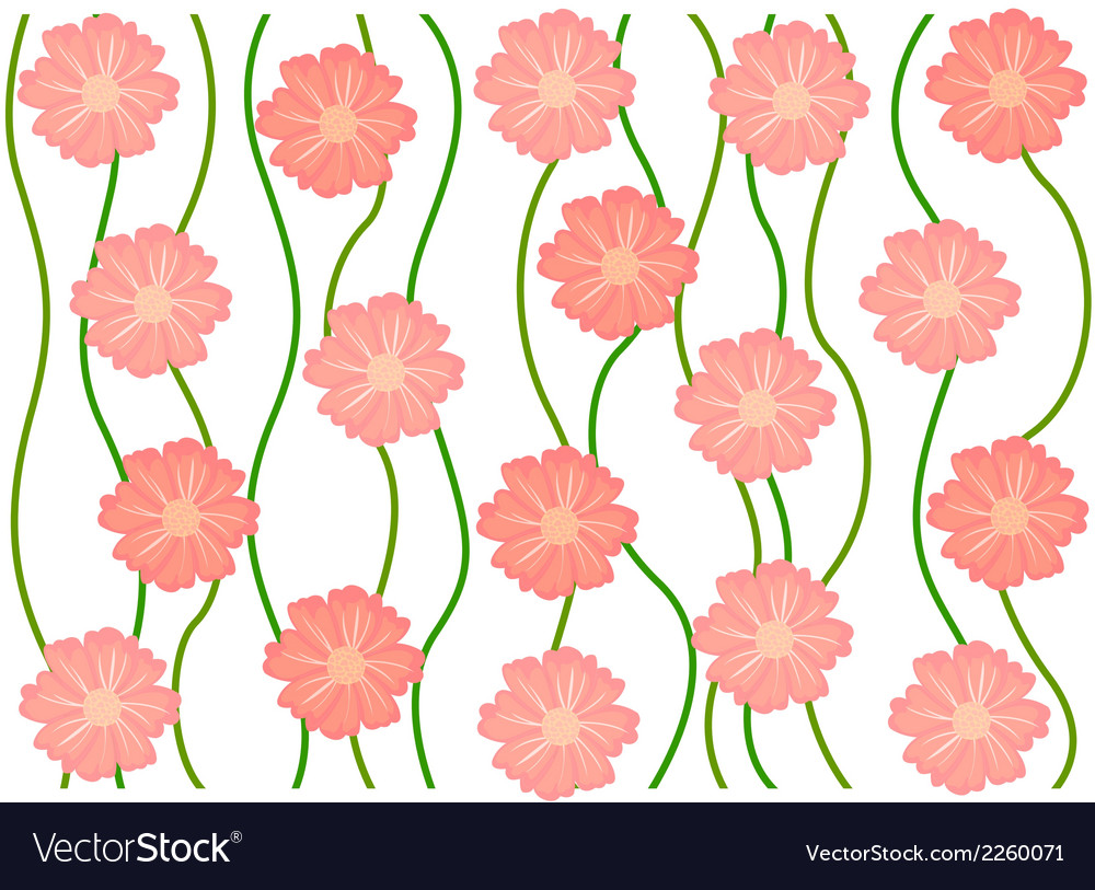 Pink flower pattern background vector | Price: 1 Credit (USD $1)