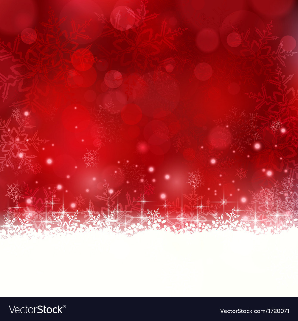 Red christmas background with snowflakes and stars vector | Price: 1 Credit (USD $1)