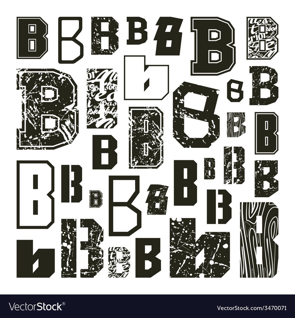 Set versions of letters b vector | Price: 1 Credit (USD $1)