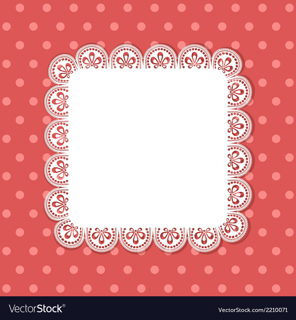 Square lace border background vector | Price: 1 Credit (USD $1)