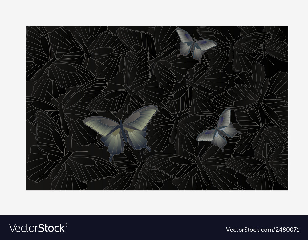 Wallpaper background with a butterfly vector | Price: 1 Credit (USD $1)