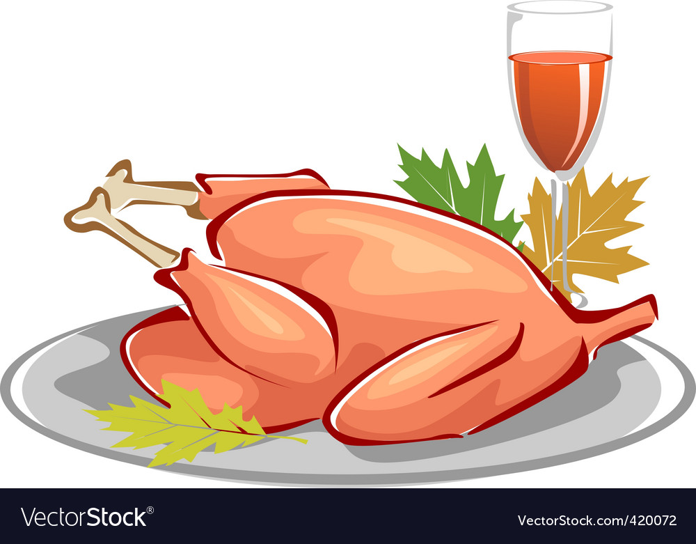 Baked turkey vector | Price: 1 Credit (USD $1)