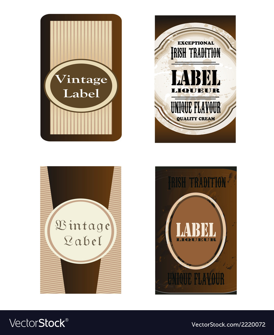 Brown labels eps template vector | Price: 1 Credit (USD $1)