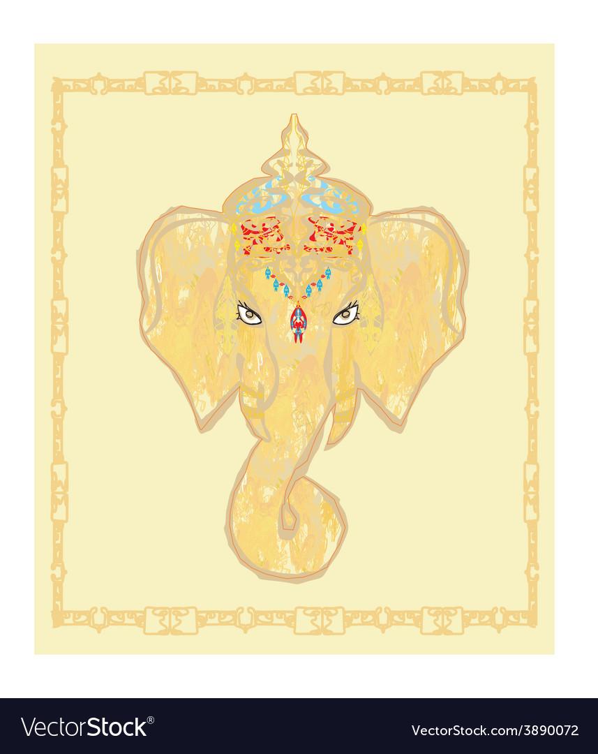 Creative of hindu lord ganesha vector | Price: 1 Credit (USD $1)