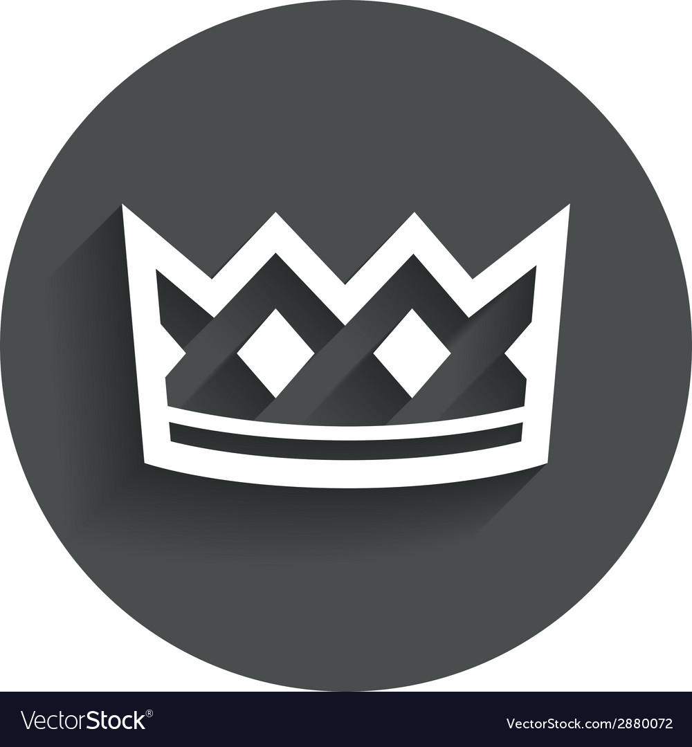 Crown sign icon king hat symbol vector | Price: 1 Credit (USD $1)